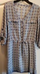 Purple Quarter Sleeve Dress